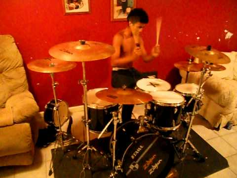 lil wayne shes on fire drum cover by mav