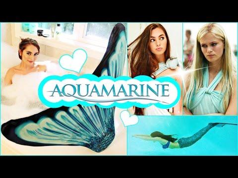 Aquamarine Makeup, Hair, Dress & Mermaid Tail Tutorial!