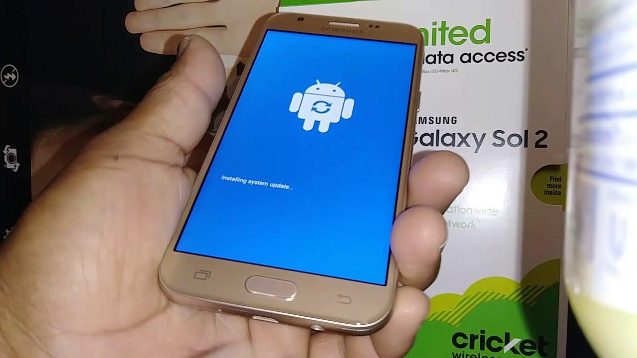 Formatear quitar bloqueo de pantalla Samsung Galaxy Sol 2 Cricket Wireless  Modelo SM-J326