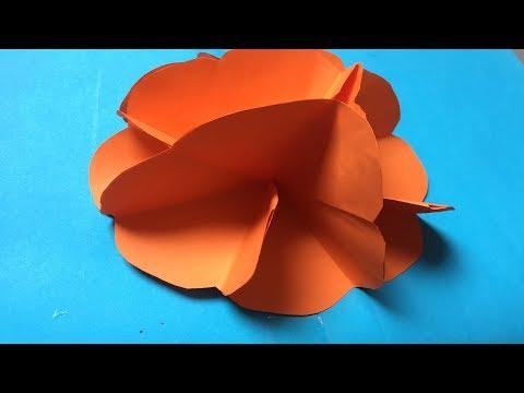 How to make a Kusudama Paper Flower   Easy origami Kusudama for beginners making   DIY-Paper Crafts