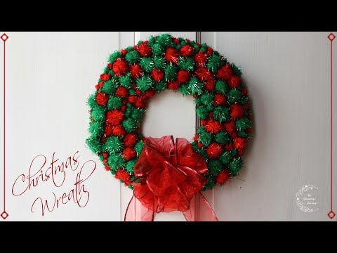 DIY Colorful Christmas Wreath Tutorial | Christmas Decorations | The Sweetest Journey