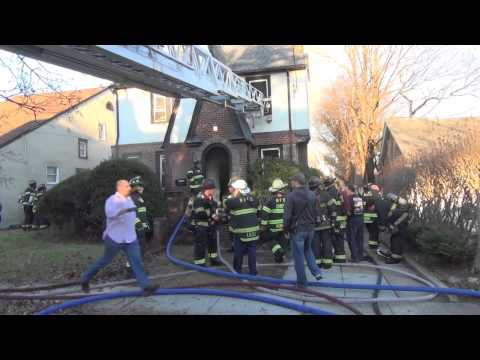 West Hempstead L.I.N.Y. Working House Fire with Maydays, 12-26-14