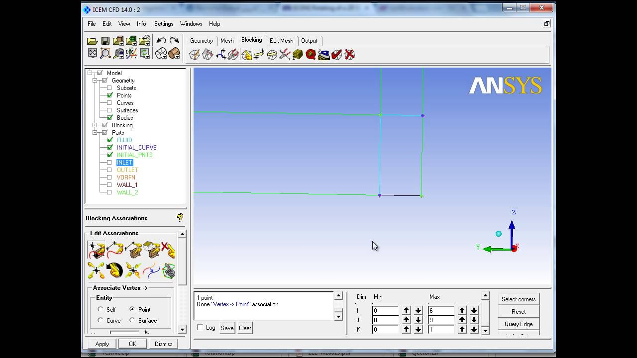 Ansys ICEM CFD 14 0 - 2d to 3d blocking by rotation - Part I