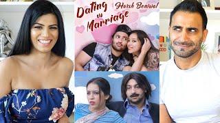 DATING VS MARRIAGE REACTION!!! | Harsh Beniwal