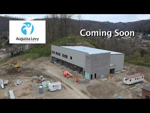 Augusta Levy Learning Center construction drone shots