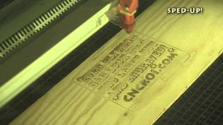 Cnc Co2 Laser Engraving & Cutting Plywood Sign