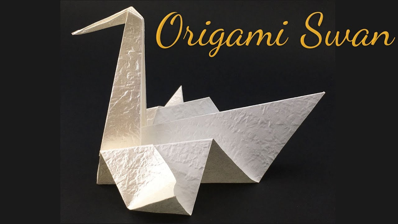 moving origami: how to make a swan origami | 720x1280