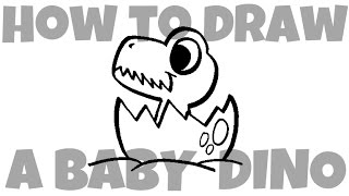 How to Draw a Baby Dinosaur