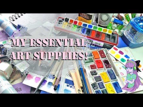 My Favourite / Essential Art Supplies!
