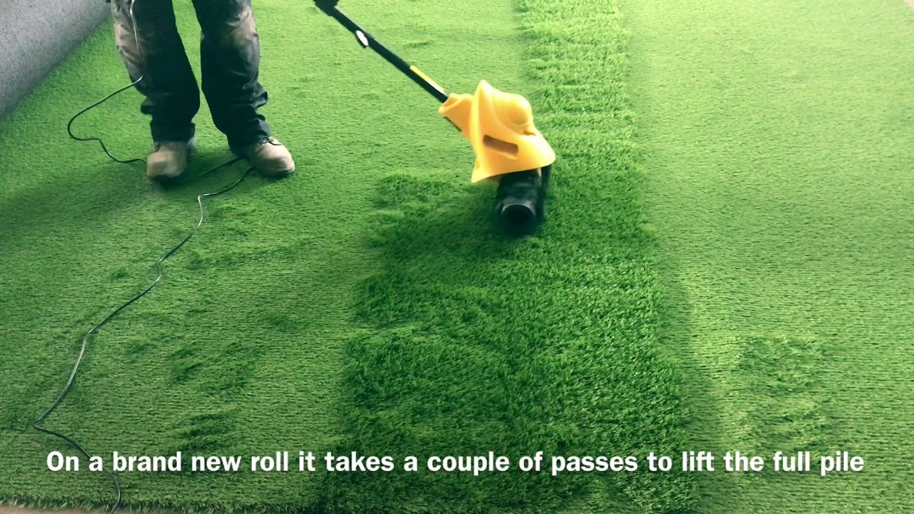 Agm 141euk Artificial Grass Electric Power Brush Sweeper