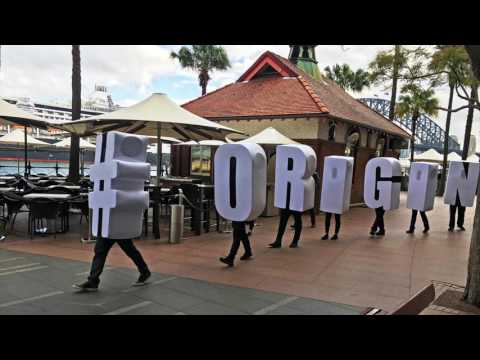 Lettermen Campaign : #ORIGIN : Guerrilla Marketing : People wearing letters