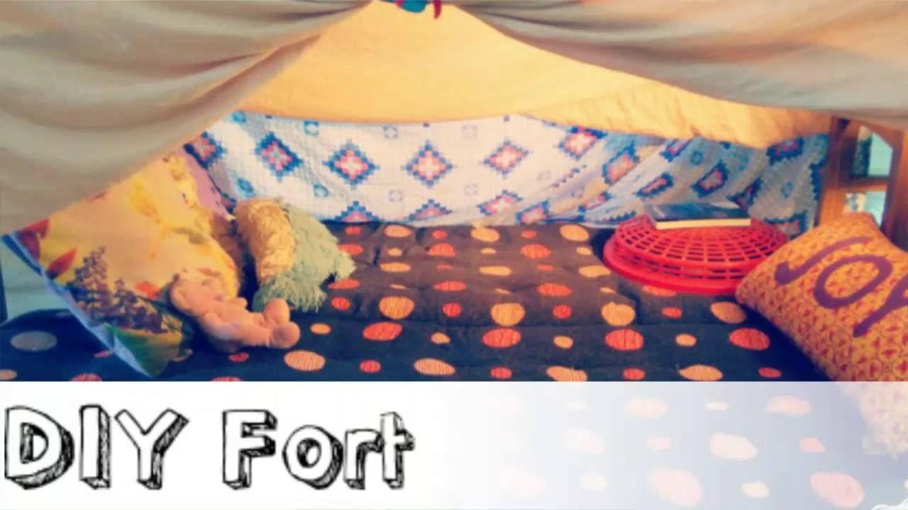 DIY Fort Sleepover Hacks   YouTube
