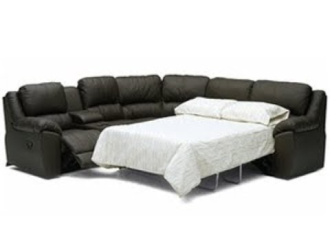 Leather Sofa Sleeper Sectional - YouTube