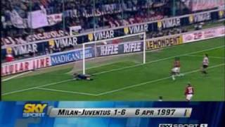 Milan 1-6 Juventus - Campionato 1996/97