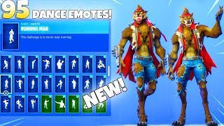 NEW! BROWN WEREWOLF SKIN! With ALL NEW DANCE EMOTES (Showcase) Fortnite Battle Royale