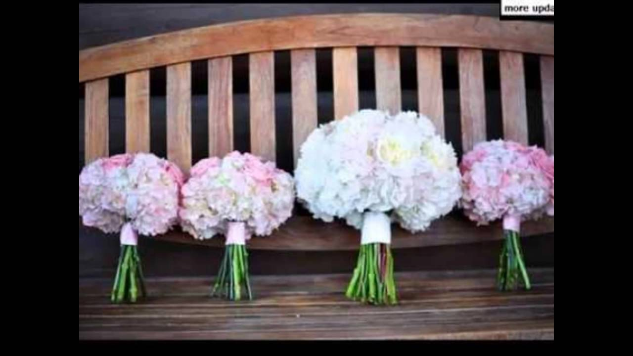 White Hydrangea And Pink Dahlia Centerpieces Youtube