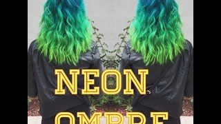 Neon Blue&Green Hair
