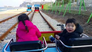 구남매 강릉 정동진역 레일바이크 (Running on Jeongdongjin station)