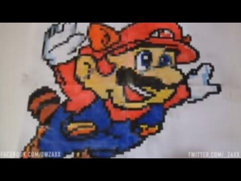 Dessin Pixel De Mario Mario Pixel A Colorier