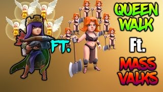 TH9 MASS VALK Ft. QUEEN WALK 3 STAR ATTACK | Clash of Clans