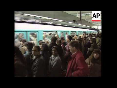 France - Transportation Strike Curtails Traffic