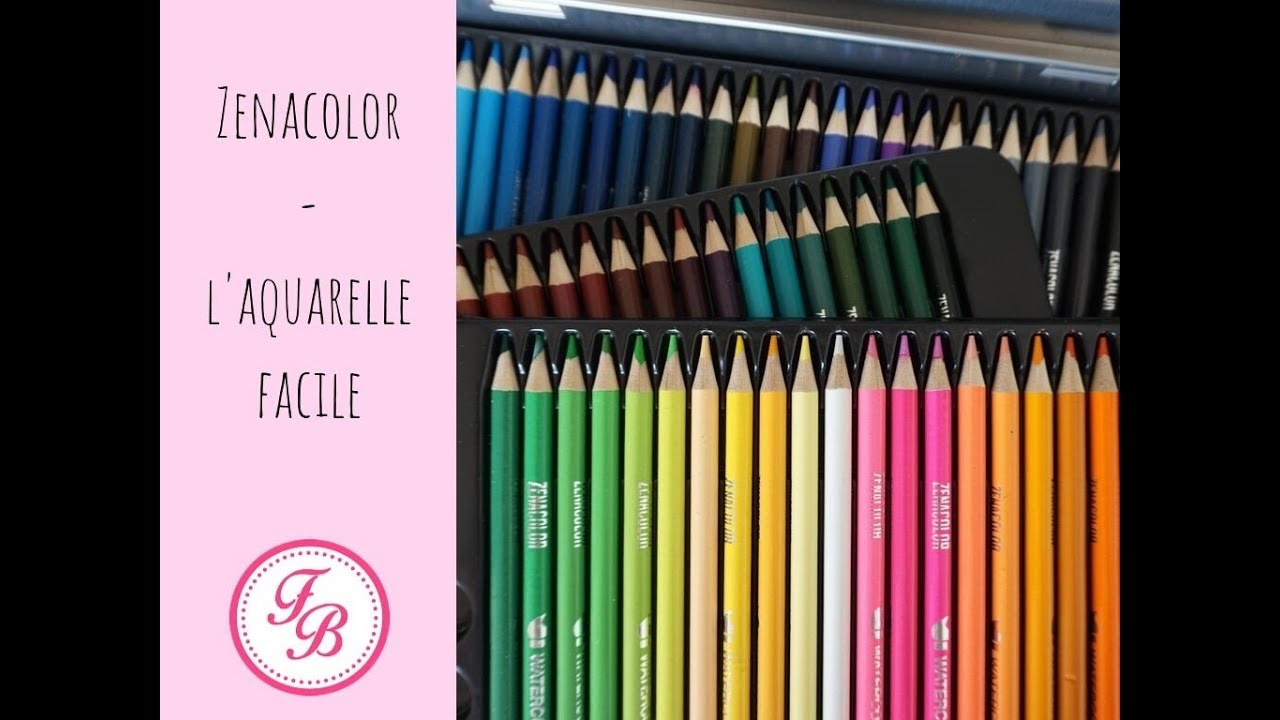 Zenacolor L Aquarelle Facile En 72 Nuances Youtube