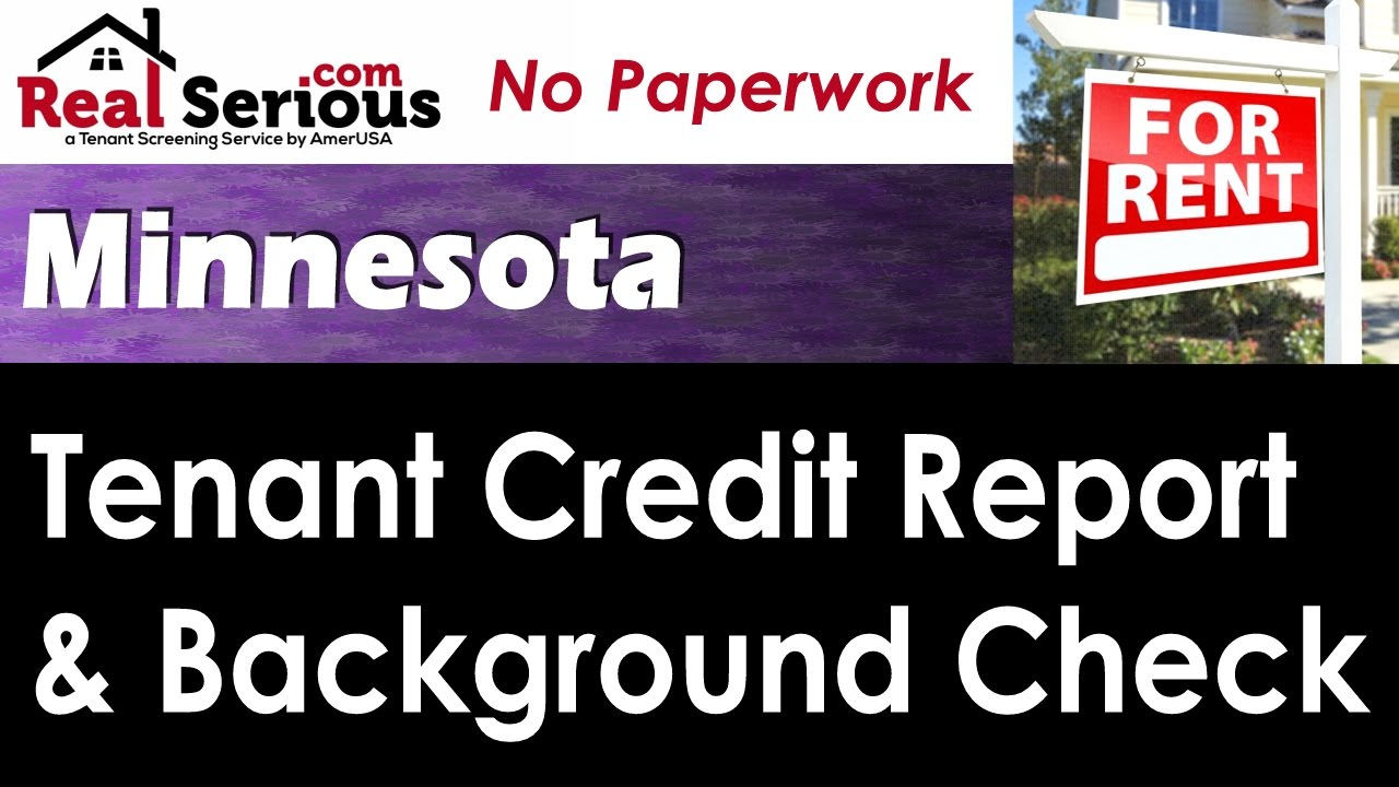 Minnesota Tenant Credit Report & Background Check - YouTube