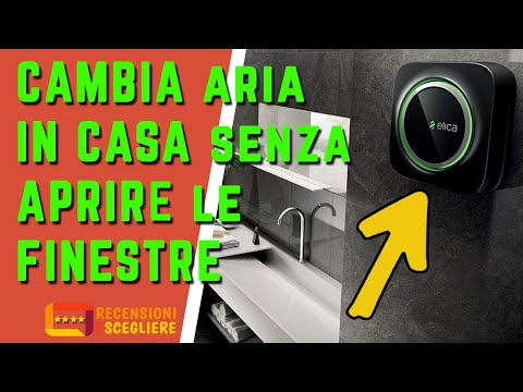 CAMBIA ARIA in casa SENZA aprire le FINESTRE con ELICA SNAP