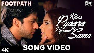 Kitna Pyaara Pyaara Hai Sama Song Footpath | Alka Yagnik,Abhijeet | Bipasha, Aftab