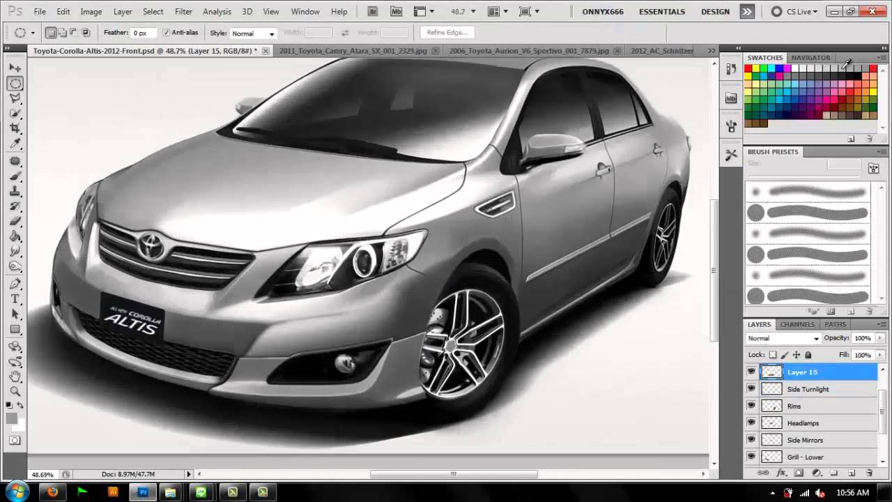 toyota corolla 2012 virtual tuning by robertus ariel youtube. Black Bedroom Furniture Sets. Home Design Ideas