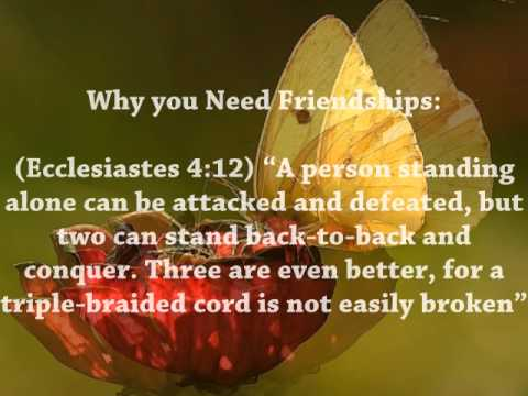 Bible Quotes About Friendship Pleasing Bible Verses About Friendship  Youtube
