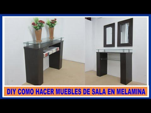 Como construir mueble de melamina recibidor moderno para for Software para fabricar muebles de melamina