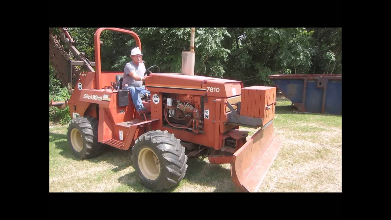 1996 ditch witch 7610 trencher for sale sold at auction october 2 rh youtube com ditch witch 2310 repair manual ditch witch 2310 parts manual