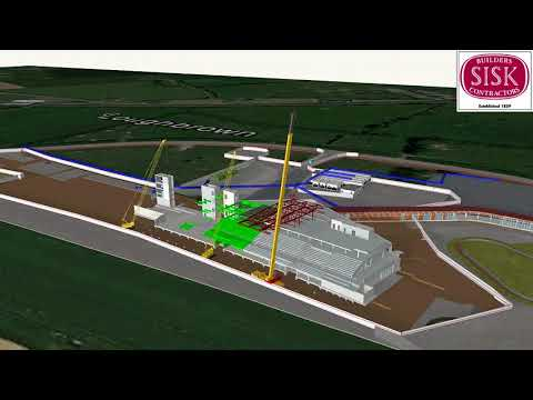 Curragh Racecourse 17 10 17 Sisk 4D Construction Sequence