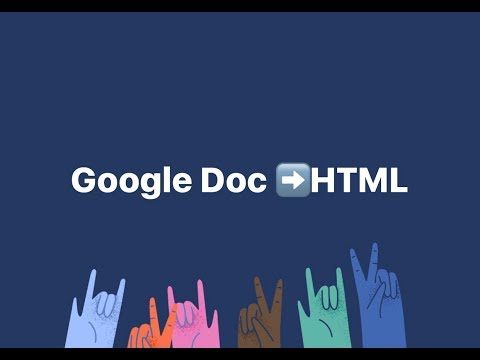 How To Turn Your Google Document Into An HTML Webpage