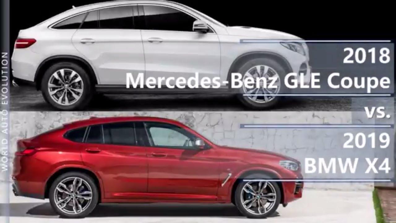 2018 mercedes gle coupe vs 2019 bmw x4  technical comparison