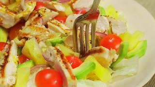🥗 Салат с ананасами и куриной грудкой