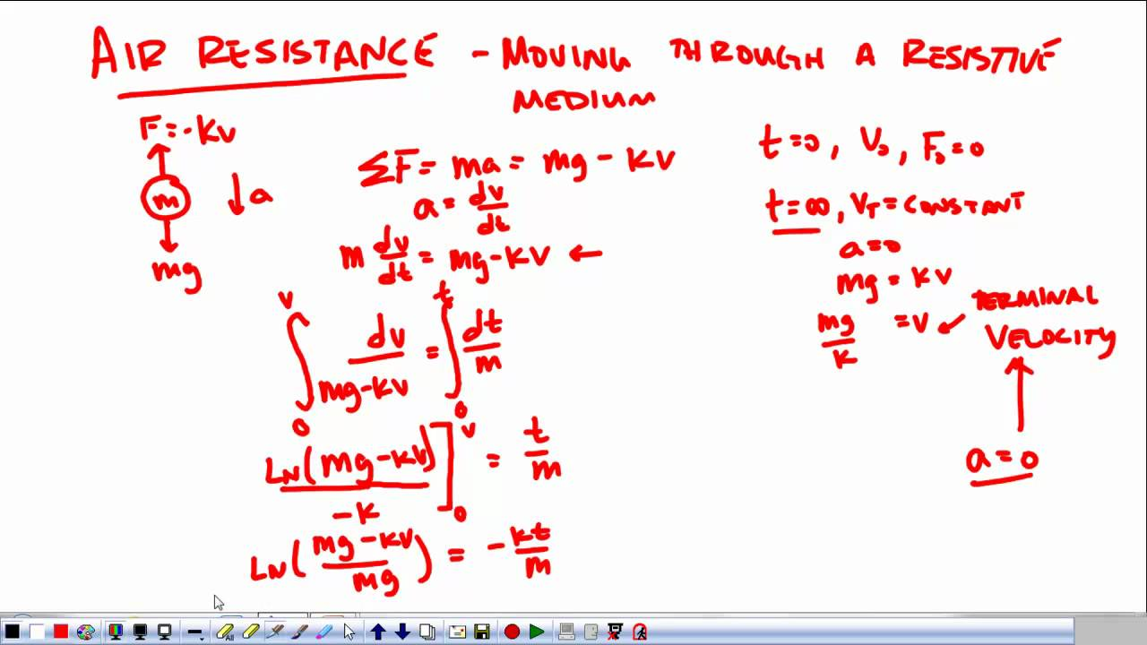AP Physics C Review: Air Resistance