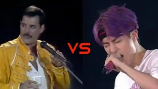 Download lagu BTS(K POP) vs FREDDIE MERCURY(QUEEN)| Vocal Battle