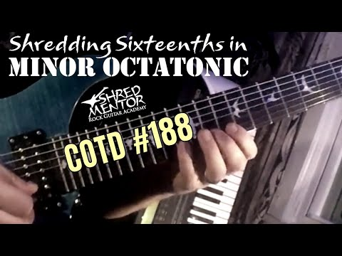 Shredding Sixteenths in Minor Octatonic | ShredMentor Challenge of the Day #188