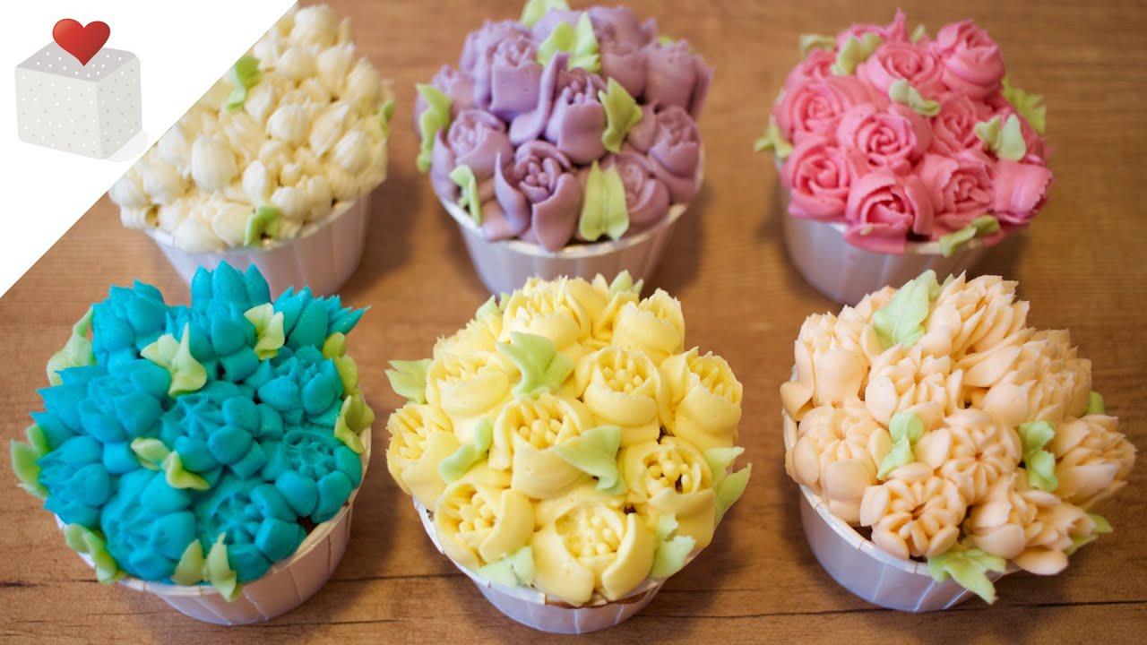 C 243 Mo Usar Boquillas Rusas Para Decorar Cupcakes Youtube