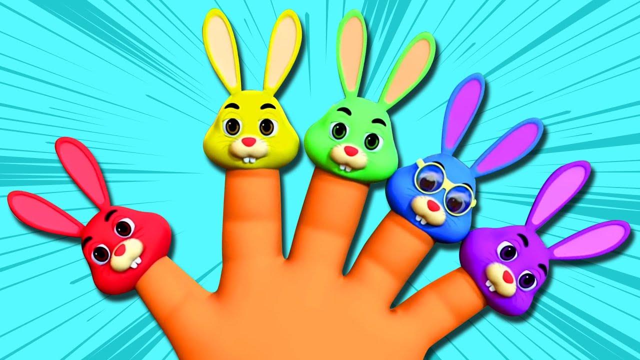 Bunny Finger Family 🐰 + More 3D Songs for Children   Kids Song Compilation   Nursery Rhyme Street