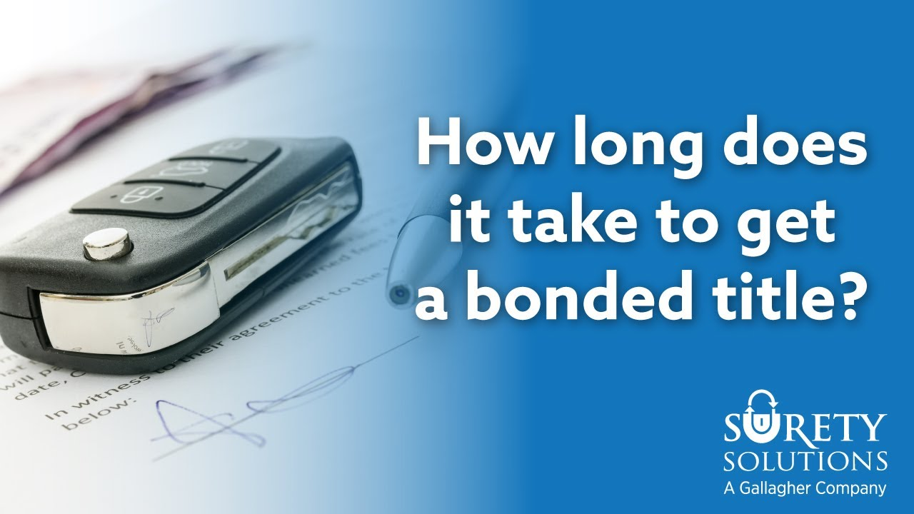 Bonded Titles: Frequently Asked Questions