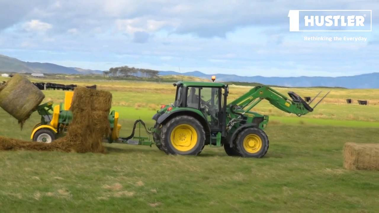 The easiest way to remove the netwrap when loading a bale