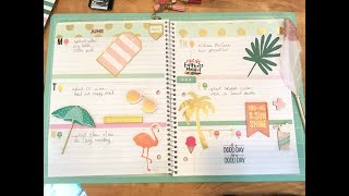 plan with me monday// diy sprial notebook planner