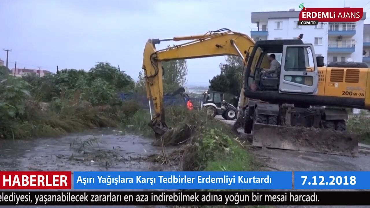 Aşırı Yağışlara Karşı Tedbirler Erdemli'yi Kurtardı