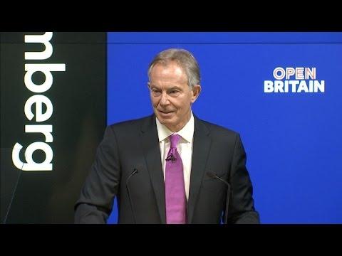 Tony Blair faz apelo contra Brexit