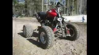 Самодельный квадроцикл из мотоцикла Honda(http://minsk-scooter.by Самостоятельно сделать квадроцикл на базе мотоцикла достаточно просто. Нужно только иметь..., 2012-06-03T07:09:17.000Z)