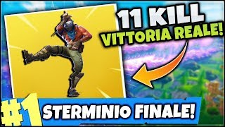 END GAME PAZZESCO ! 11 KILL e VITTORIA REALE DA KING! FORTNITE ITA PC
