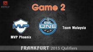 MVP Phoenix vs Team Malaysia game 2 - Dota 2 ESL One 2015